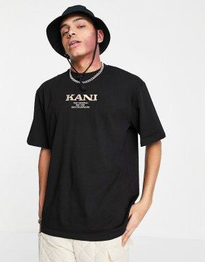 Черная футболка в стиле ретро -Черный Karl Kani