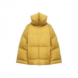 Пуховая куртка Bottega Veneta. Цвет: жёлтый