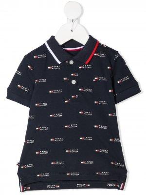 Рубашка поло с монограммой Tommy Hilfiger Junior. Цвет: синий