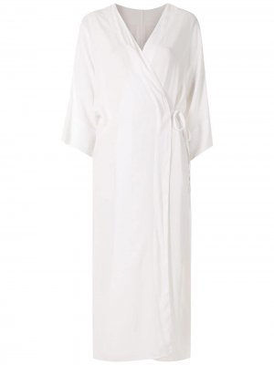 Пляжное платье с длинными рукавами Haight. Цвет: белый