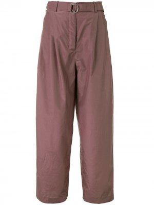 Широкие брюки прямого кроя Colombo. Цвет: фиолетовый