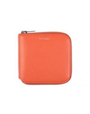 Бумажник ACNE STUDIOS. Цвет: оранжевый