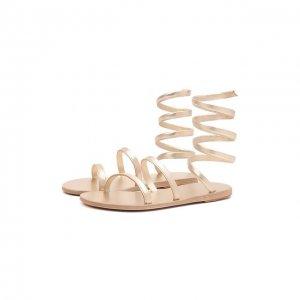 Кожаные сандалии Ofis Ancient Greek Sandals. Цвет: золотой