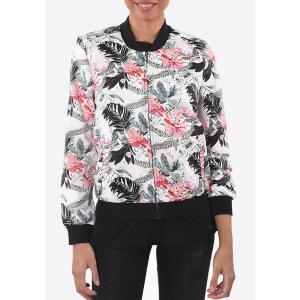 Куртка-бомбер прямого покроя KAPORAL 5. Цвет: рисунок/экрю