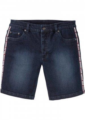 Шорты джинсовые Regular Fit bonprix. Цвет: синий