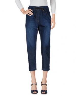 Джинсовые брюки-капри BRUNELLO CUCINELLI. Цвет: синий