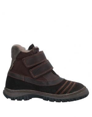 Полусапоги и высокие ботинки BISGAARD. Цвет: темно-коричневый