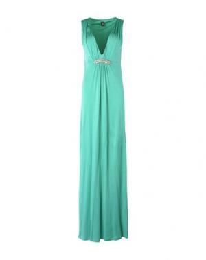 Длинное платье 1-ONE. Цвет: светло-зеленый