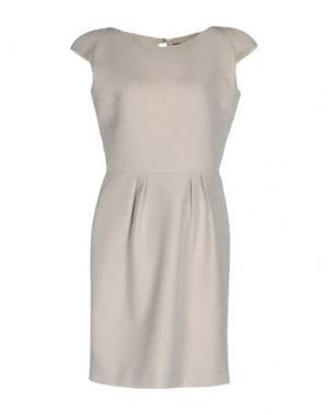 Короткое платье JULIAN KEEN. Цвет: светло-серый