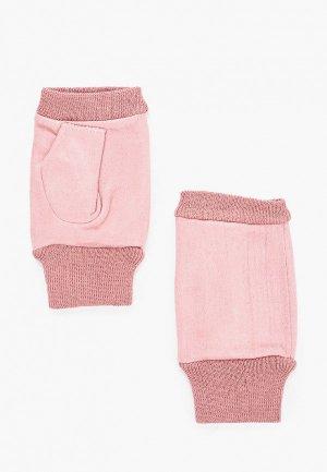 Митенки Pur. Цвет: розовый