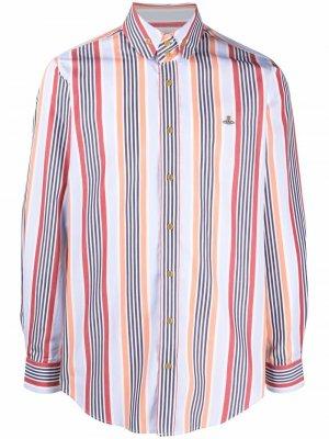 Рубашка Krall в полоску Vivienne Westwood. Цвет: синий