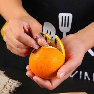 1шт Инструмент для пилинга фруктов SHEIN. Цвет: серебряные