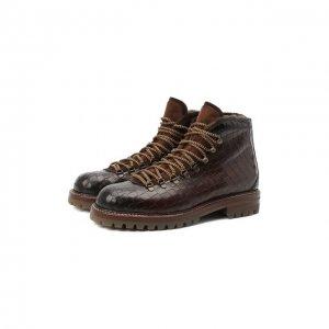 Кожаные ботинки Antonio Maurizi. Цвет: коричневый