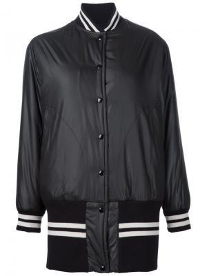 Удлиненная куртка-бомбер Mm6 Maison Margiela. Цвет: чёрный