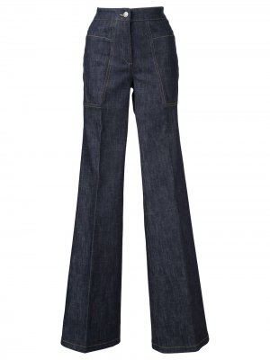 Расклешенные джинсы с высокой талией Charlotte Derek Lam. Цвет: синий