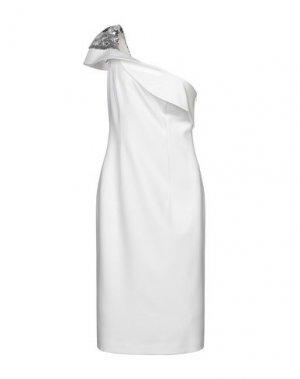 Платье до колена BLACK HALO EVE by LAUREL BERMAN. Цвет: белый
