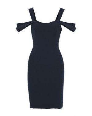 Платье миди HALSTON. Цвет: темно-синий
