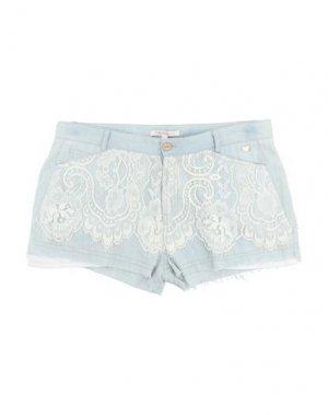 Джинсовые шорты FRACOMINA MINI. Цвет: синий
