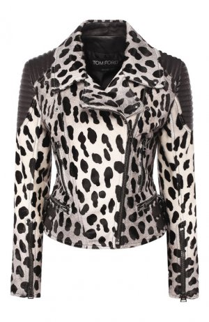 Кожаная куртка Tom Ford. Цвет: чёрно-белый