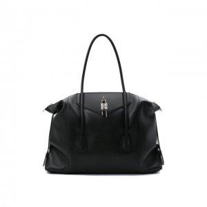 Кожаная дорожная сумка Antigona Givenchy. Цвет: чёрный