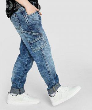 Кожаные полуботинки для мальчиков O`Stin. Цвет: белый