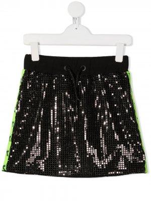 Декорированная юбка мини Diadora Junior. Цвет: черный