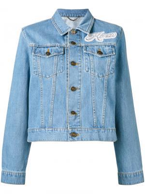 Джинсовая куртка с аппликацией Kenzo. Цвет: синий