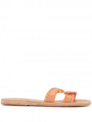 Сандалии с плетеным ремешком Ancient Greek Sandals. Цвет: оранжевый
