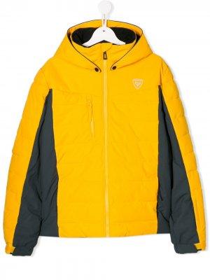 Лыжная куртка Polydown Rossignol Kids. Цвет: желтый