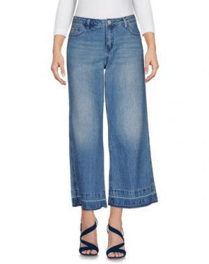 Джинсовые брюки-капри ONLY. Цвет: синий