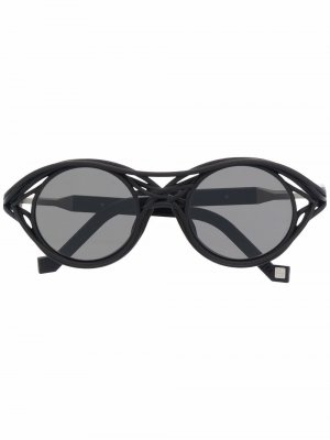 Солнцезащитные очки CL0015 в круглой оправе VAVA Eyewear. Цвет: черный