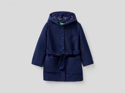 Пальто Benetton. Цвет: синий