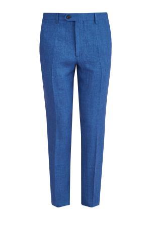 Однотонные льняные брюки классического кроя ETRO