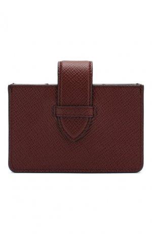 Кожаный футляр для кредитных карт Smythson. Цвет: коричневый