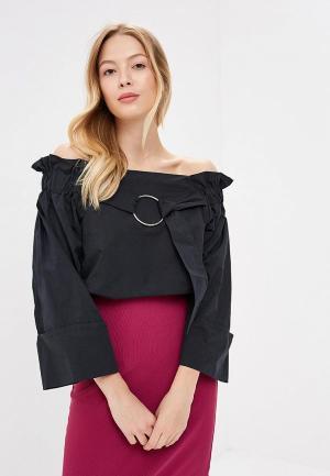 Блуза Lost Ink RING DETAIL BARDOT. Цвет: черный