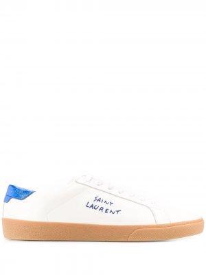 Кеды SL/06 на шнуровке Saint Laurent. Цвет: белый