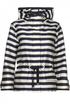 Куртка-ветровка с капюшоном Moncler. Цвет: синий
