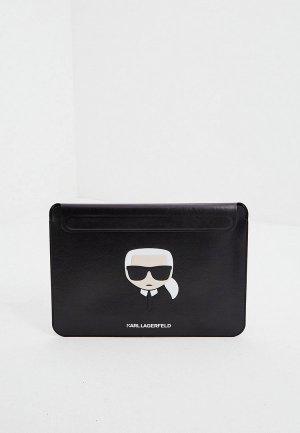 Чехол для ноутбука Karl Lagerfeld ноутбук 13, Ikonik Sleeve Black. Цвет: черный