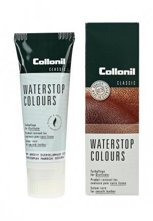 Крем для обуви Collonil Waterstop Colours, коричневый, гладкой кожи, 75 мл.. Цвет: коричневый
