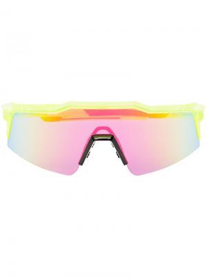 Солнцезащитные очки SpeedCraft SL 100% Eyewear. Цвет: желтый