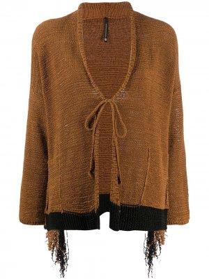 Кардиган с завязками Pierantoniogaspari. Цвет: коричневый