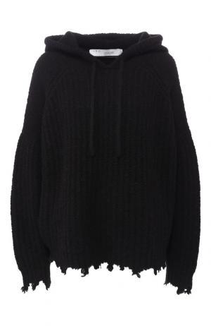 Шерстяной пуловер с капюшоном Iro. Цвет: черный