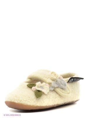 Тапочки Haflinger. Цвет: молочный