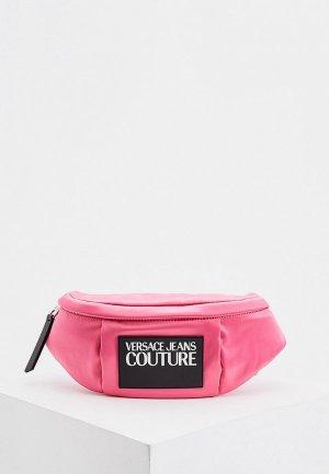 Сумка поясная Versace Jeans Couture. Цвет: розовый
