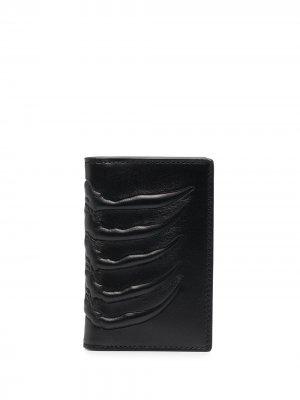 Фактурный бумажник Alexander McQueen. Цвет: черный