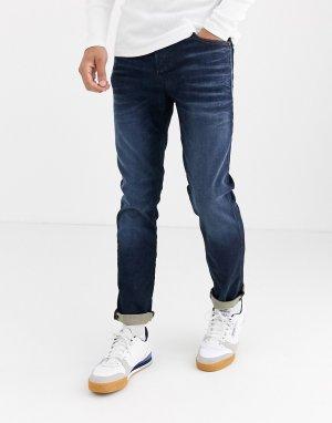 Узкие выбеленные джинсы Intelligence-Синий Jack & Jones