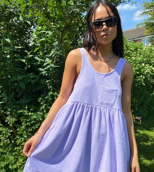 Сиреневое летнее платье из махровой ткани COLLUSION-Фиолетовый цвет Collusion
