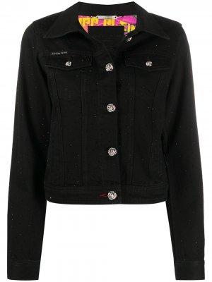 Джинсовая куртка с декорированными пуговицами Philipp Plein. Цвет: черный