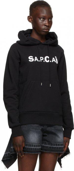 Black Sacai Edition Taiyo Hoodie A.P.C.. Цвет: lzz black