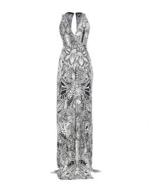 Длинное платье JUST CAVALLI. Цвет: черный
